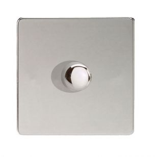 LED Compatible Dimmer 1 x 300W - Polished Chrome
