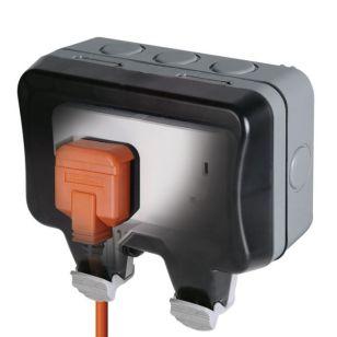 Nexus Storm 2 Gang 13 Amp Socket - IP66
