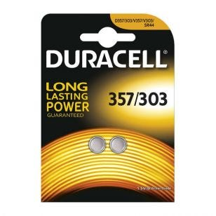 Duracell 303/357 Coin Battery - Pack of 2