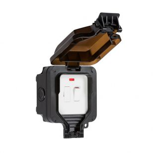 13A Switch Outdoor Spur Unit with Neon Indicator