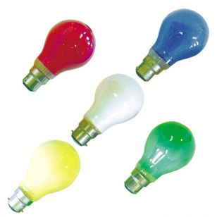 25W Colour GLS Bulbs - Bayonet Cap - Pack of 10