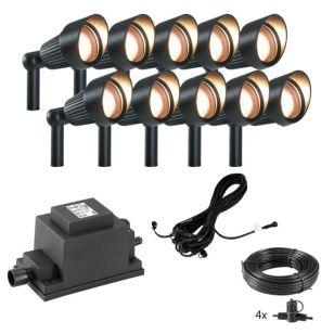 Techmar Plug and Play - Focus Verona LED Garden Spotlight Kit - 10 Lights