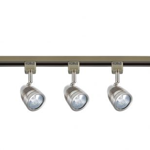 Robus Acorn LED 1 Circuit Track Light Kit - Satin Chrome - 3 Lights