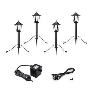 Garden 24V Coach Lantern LED Outdoor Post Light - 4 Lights