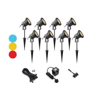 EasyFit 12v Garden Lights - Scene LED Spotlight Kit - 8 Lights
