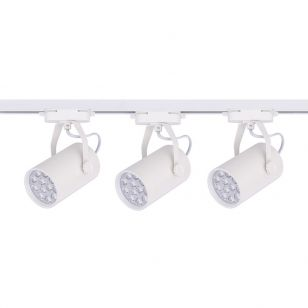 Edit Profile 12W Cool White LED 1 Circuit Track Light Kit - White - 3 Lights