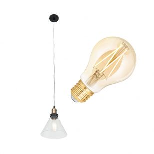 Edit Factory 6.5W Warm White LED Smart WiFi Ceiling Pendant Light - Antique Brass