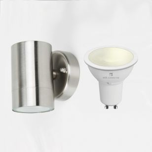 Edit Dune 5.5W Warm White LED Smart WiFi Outdoor Wall Light - Stainless Steel