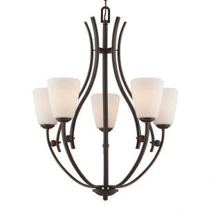 Quoizel Chantilly 5 Light Chandelier - Palladian Bronze