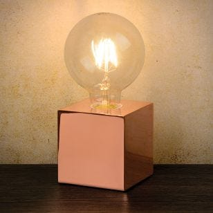 Lucide Cubico Table Lamp - Copper