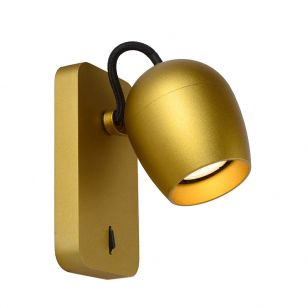 Lucide Preston LED Reading Light - Satin Brass