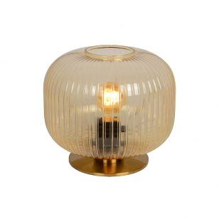 Lucide Virgil 23 Glass Table Lamp - Amber