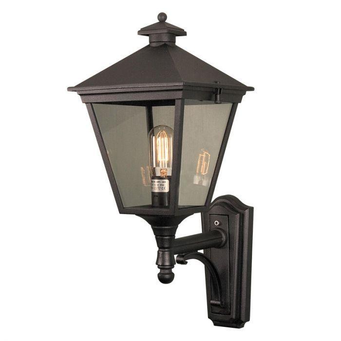 Norlys Turin Grande Outdoor Lantern Wall Light Black Lighting Direct