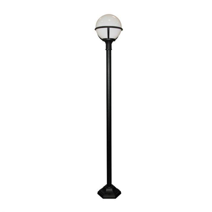 Elstead Glenbeigh Lamp Post Black, Globe Outdoor Light Post