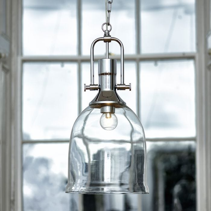 Dar Nolan Dual Mount Glass Ceiling Pendant Light Polished Chrome Lighting Direct