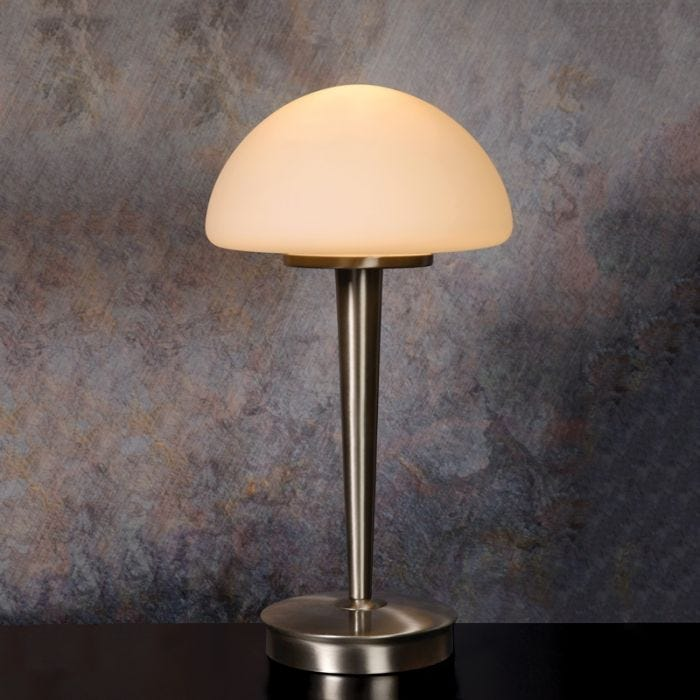 Lucide Touch Table Lamp Satin Chrome