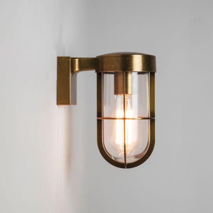 Astro Cabin Outdoor Wall Light Antique Brass Lighting Direct