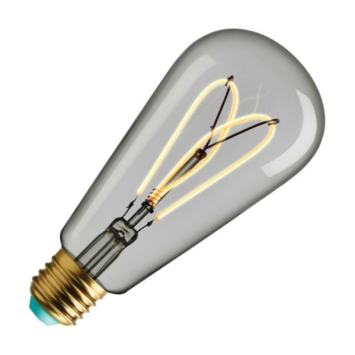 Wattnott Whirly Willis 4w Warm White Dimmable Led Decorative Filament Clear Squirrel Cage Bulb Screw Cap Lighting Direct