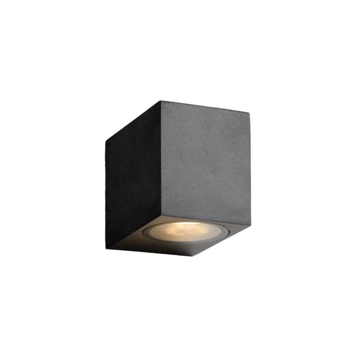 Lucide Zora Square Led Outdoor Wall Light Black Lighting Direct