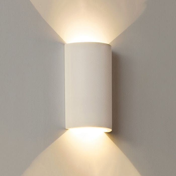 Edit Gallery Round Led Plaster Wall Light Satin White Lighting Direct