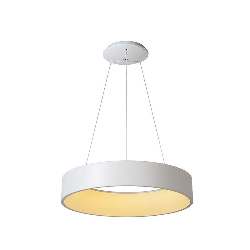 Lucide Talowe Halo Led Ceiling Pendant Light White Lighting Direct