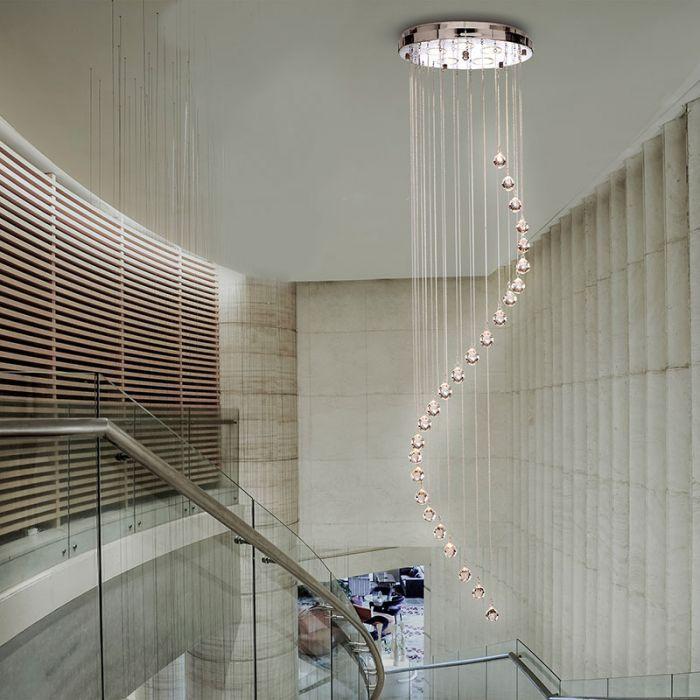 Searchlight Hallway 5 Light Cascade Ceiling Pendant Crystal Lighting Direct