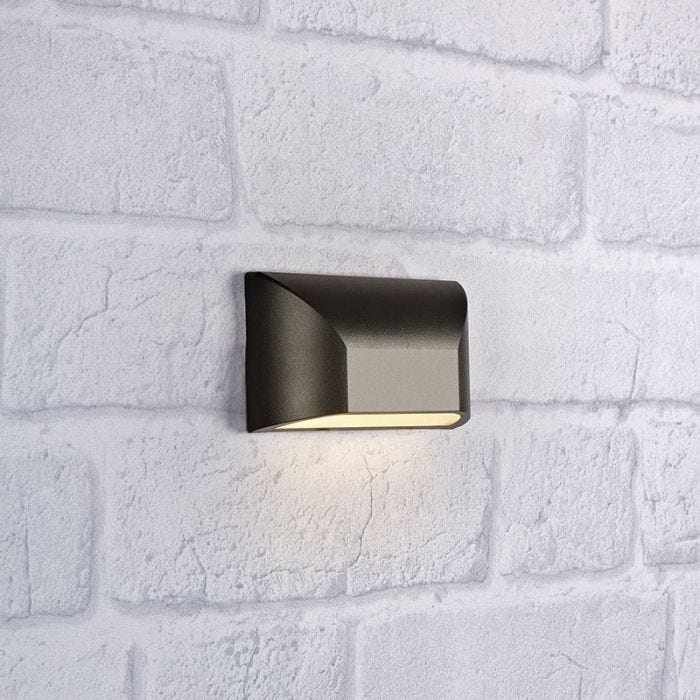 Nikos Led Outdoor Wall Light Dark, Modern Outdoor Wall Lights Anthracite Grey