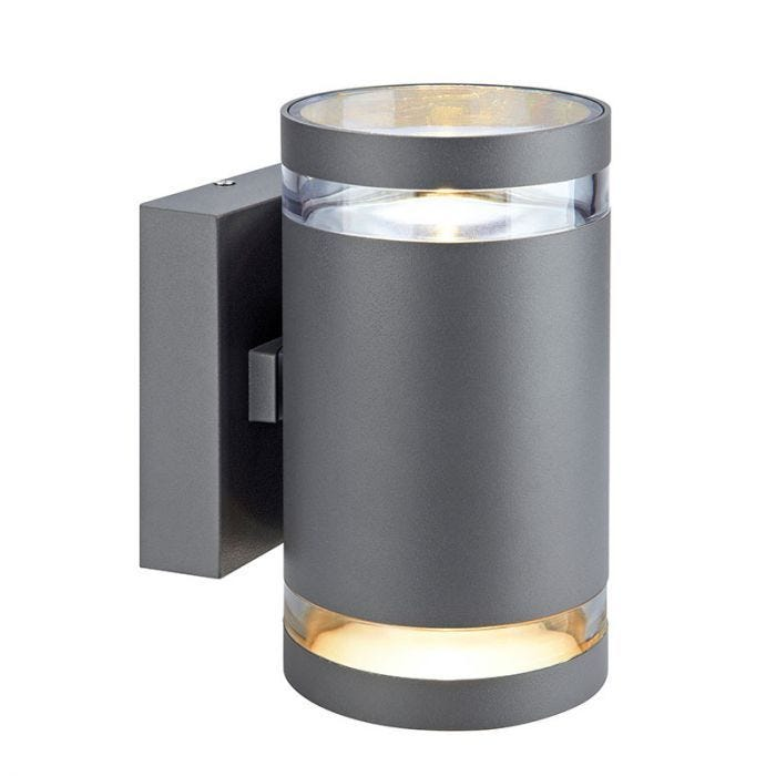 Iris Led Outdoor Up Down Wall Light, Modern Outdoor Wall Lights Anthracite Grey
