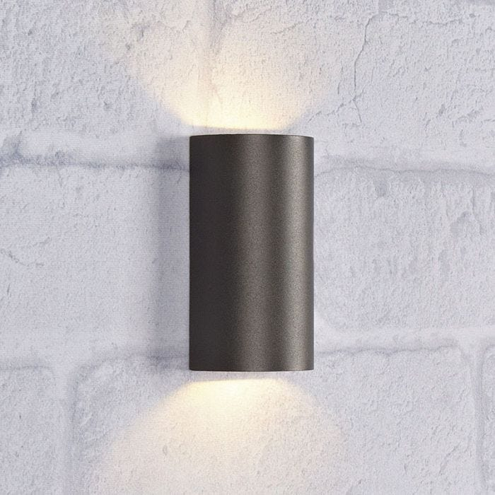 Lyra Led Outdoor Up Down Wall Light, Modern Outdoor Wall Lights Anthracite Grey