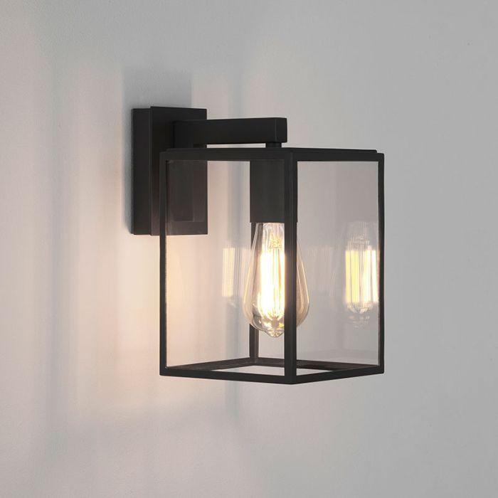 Astro Box 270 Outdoor Hanging Lantern, Large Black Outdoor Wall Lighting
