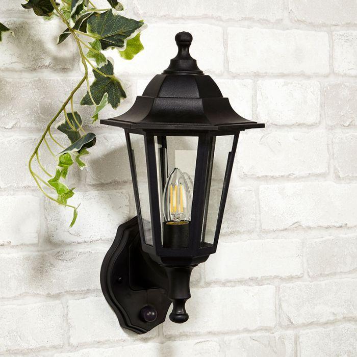 Coach Lantern Outdoor Wall Light, Motion Sensor Lantern Outdoor Light
