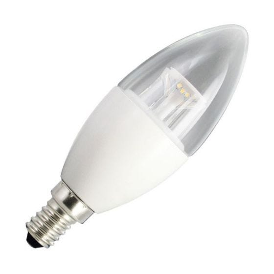 Integral 6.2W Dimmable Warm White LED Clear Candle Bulb - Small Screw Cap