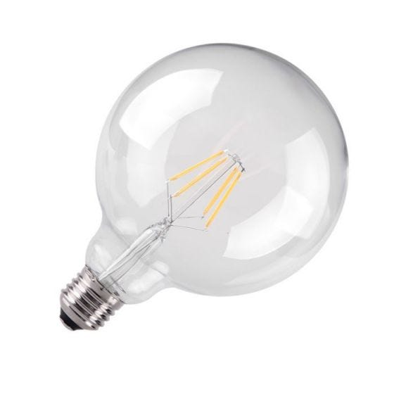 Kosnic 4.5W Warm White LED Clear Filament 125mm Globe Bulb - Screw Cap
