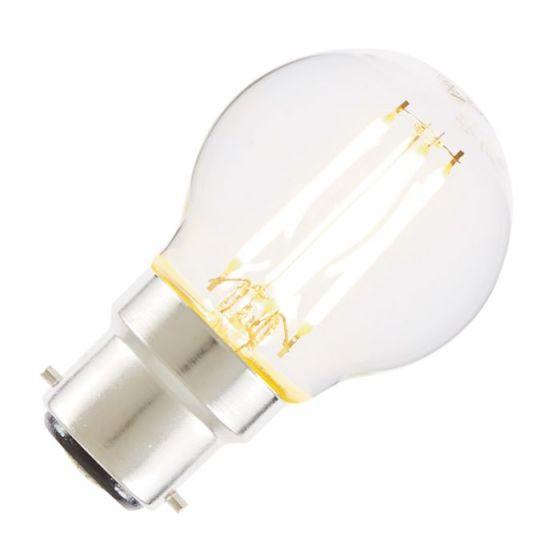 Tagra 4W Warm White Dimmable LED Decorative Filament Golf Ball Bulb - Bayonet Cap