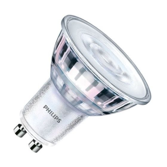 Philips CorePro LEDspot 5W Warm White 3000k Dimmable LED GU10 Bulb - Flood Beam