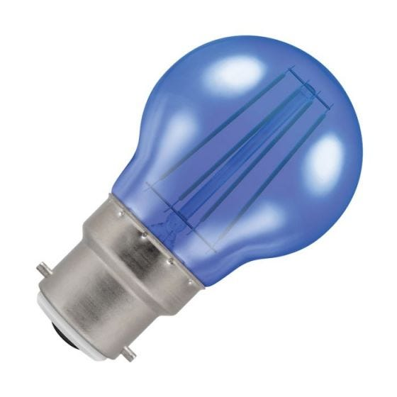 Crompton Harlequin 4W Blue LED Decorative Filament Golf Ball Bulb - Bayonet Cap