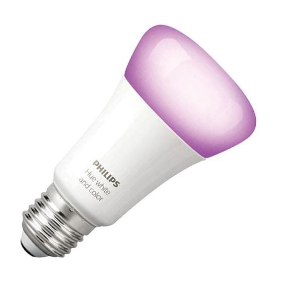 Philips Hue 10W White and Colour Changing LED WiFi GLS Bulb - Screw Cap
