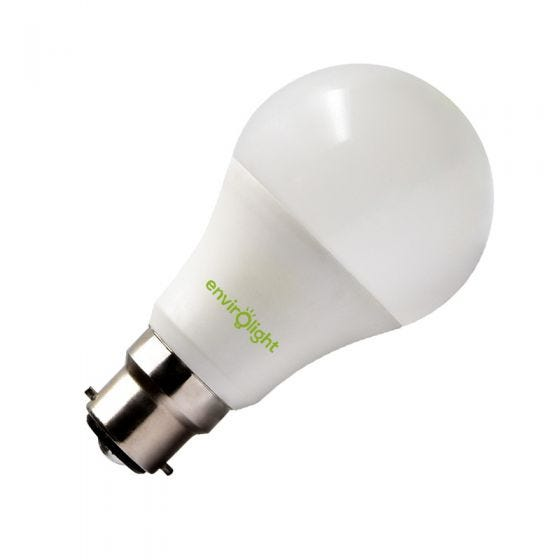 Envirolight 10W Warm White Dimmable LED GLS Bulb - Bayonet Cap