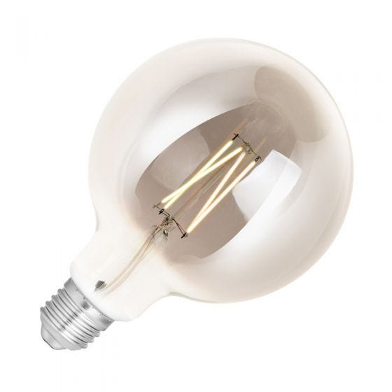 WiZ 6.5W White Changing Dimmable LED Decorative Filament Smart WiFi Smoky 125mm Globe Bulb - Screw Cap