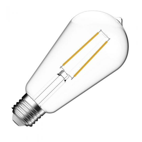 Eco 4.5W Warm White LED Decorative Filament Squirrel Cage Bulb - Screw Cap