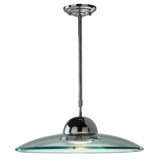 Dar Hemisphere Telescopic Ceiling Pendant Light - Polished Chrome