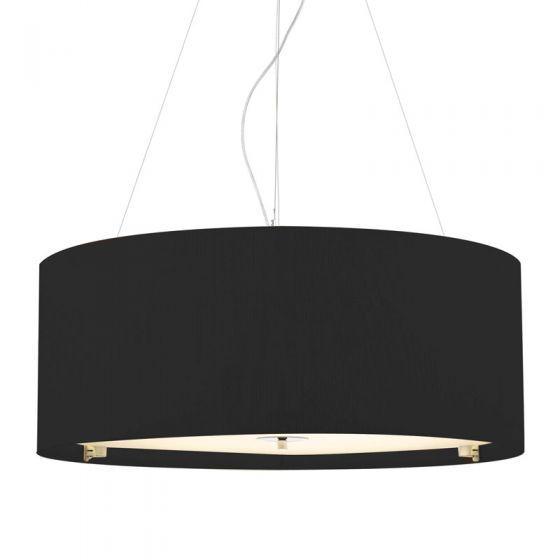 Dar Zaragoza 6 Light Black Ceiling Pendant Light - 900mm Black