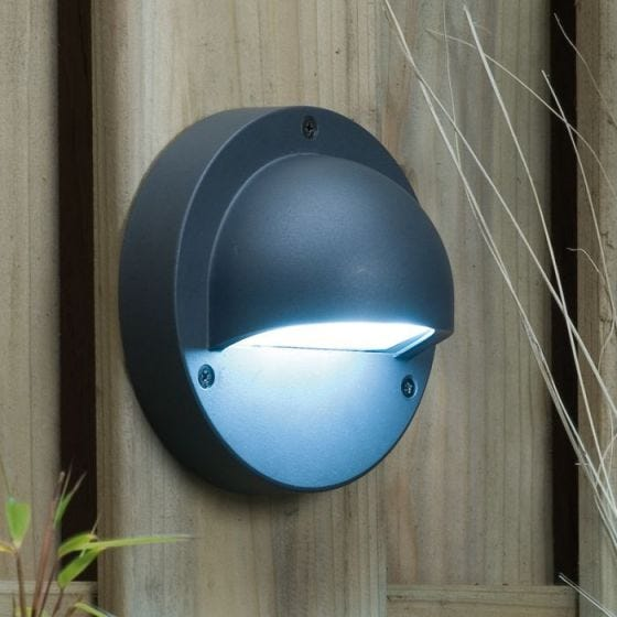 Techmar Plug and Play -  Deimos White LED Garden Wall Light