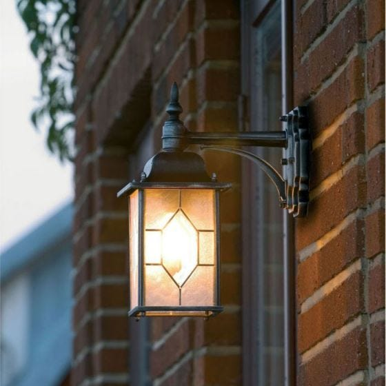 Konstsmide Milano Outdoor Hanging Lantern Wall Light