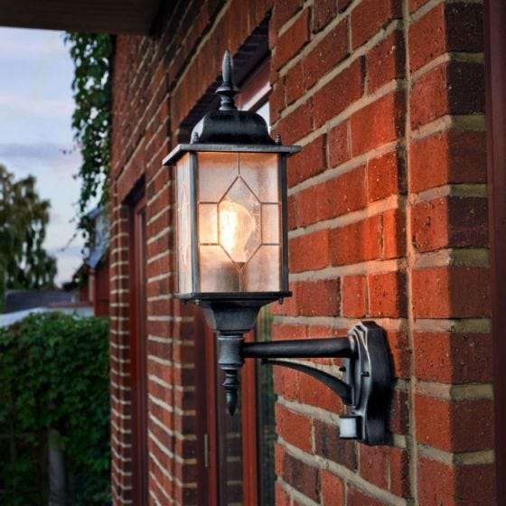 Konstsmide Milano Outdoor Lantern Wall Light with PIR Sensor