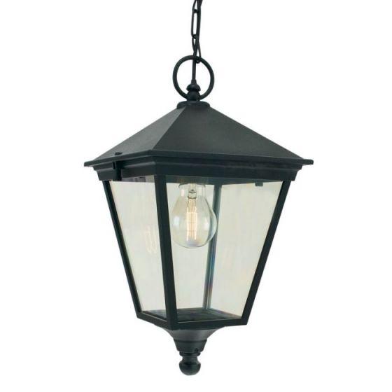 Norlys Turin Pendant Porch Lantern - Black