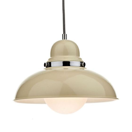 Dar Dynamo Ceiling Pendant Light - Gloss Cream