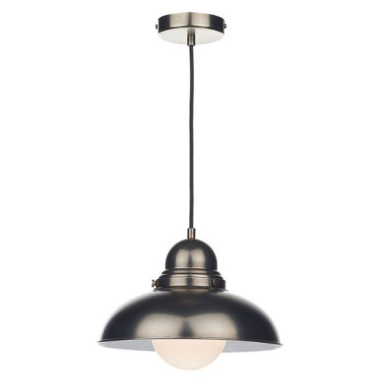 Dar Dynamo Ceiling Pendant Light - Antique Chrome