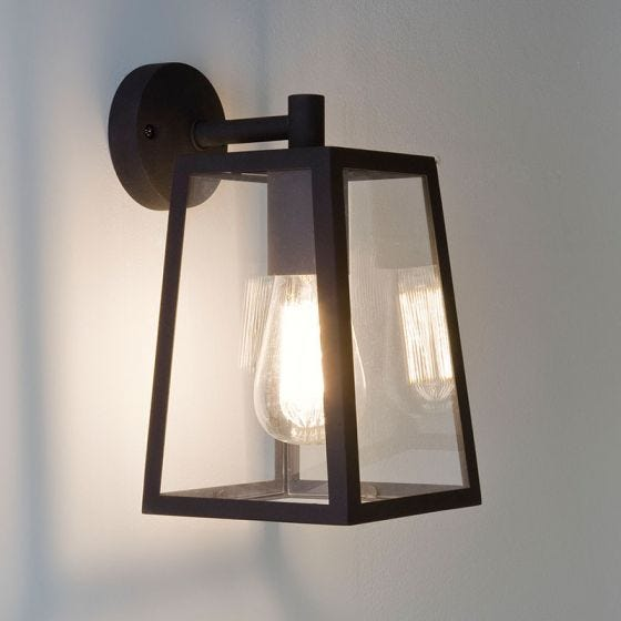 Astro Calvi Outdoor Hanging Lantern Wall Light - Black