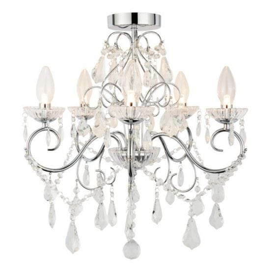 Vela 5 Arm Semi Flush Light